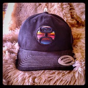 Hooey SnapBack Hat/Cap, Black, Rainbow NWT